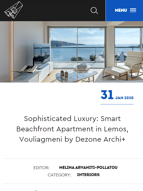 Archisearch featuring Smart Beachfront Apartment